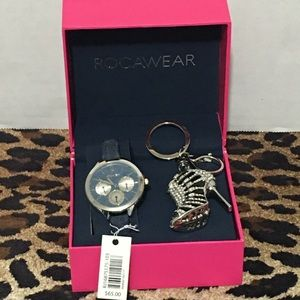 Rocawear watch set with keychain